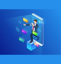 isometric digital marketing business marketing vector image