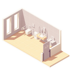 Isometric public accessible toilet vector