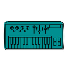 keyboard musical instrument icon image vector image