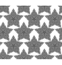 Lace stars on white background for your festive vector image