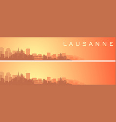 lausanne beautiful skyline scenery banner vector image