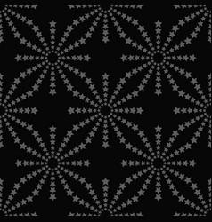 line stars seamless pattern on black background vector image
