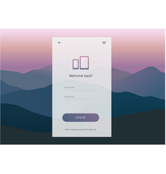 Login screen ui design vector