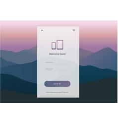 Login screen ui design vector
