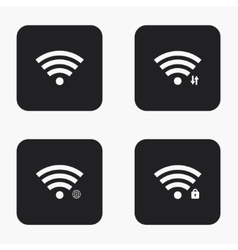 modern wi fi icons set vector image