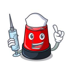 nurse sirine character cartoon style vector image