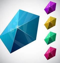 Pentagonal vibrant pyramid vector