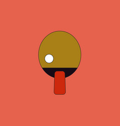 Ping pong table tennis icon vector