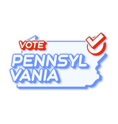 Presidential vote in pennsylvania usa 2020 state vector