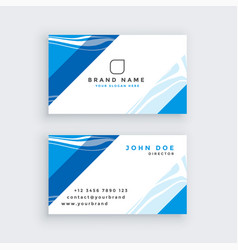Professional blue modern business card vector