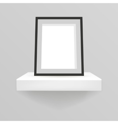 Realistic design shelf hanging on a wall 3d vector