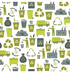Recycling garbage seamless pattern vector