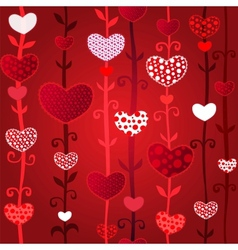 red love valentines day seamless pattern vector image