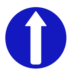 Road sign arrow go straight vector