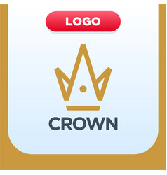 royal crown logo template with letter a and m vector image
