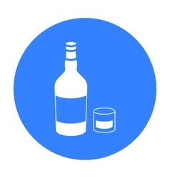 Rum icon in black style isolated on white vector image