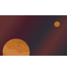 Scenery of space planets art vector