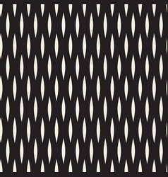 seamless black and white wavy lines pattern vector image