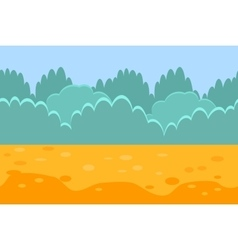 Seamless Horizontal Landscape for a Game Bushes vector image