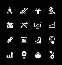 Set icons of start-up vector image