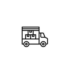 shipping delivery icon vector image