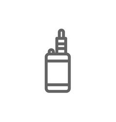 simple vape line icon symbol and sign vector image