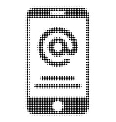 Smartphone address info halftone dotted icon vector