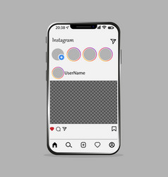 Smartphone with new updated screen vector