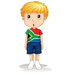 South African boy standing straight vector image