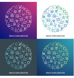 space exploration concepts set vector image