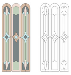 Stained-glass window vector