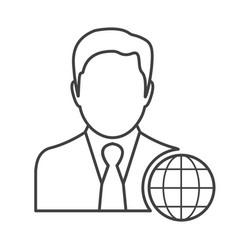 Thin line manager icon vector