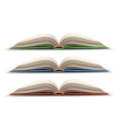 Three opened book vector