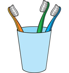 Toilet Brushes in a Holder vector
