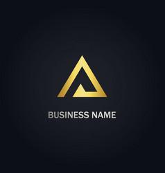 Triangle a sign company logo vector
