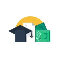 Tuition money finance education scholarship vector