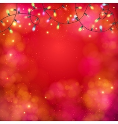 Vibrant party background with a garland of lights vector image
