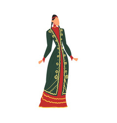 Woman in bashkiria national lothing female vector