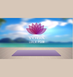 Yoga background meditation relaxation place with vector