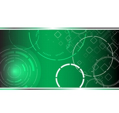 Abstract hi tech green background vector image