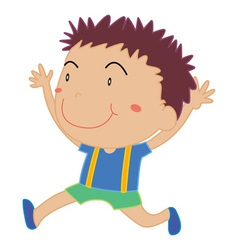 Simple child cartoon vector image vector image