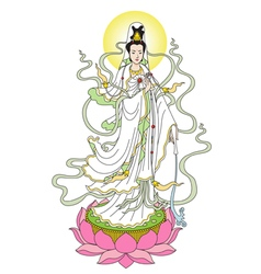 The Goddess of Mercy vector image vector image