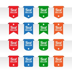 Best seller paper tag labels vector image vector image