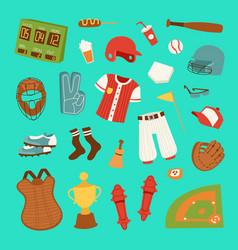 cartoon baseball game player clothes vector image