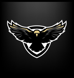 eagle in flight logo symbol vector image vector image
