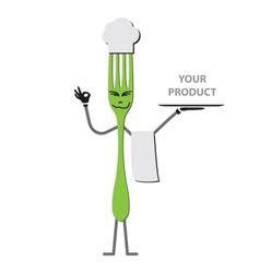 Fork cartoon vector image