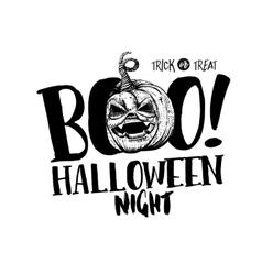 Halloween Boo label vector image vector image