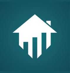 home building logo vector image vector image