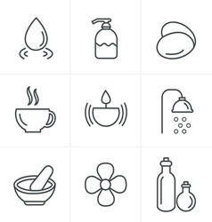 Line Icons Style Spa Icons Set Design vector image vector image