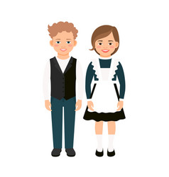 school children on white vector image vector image